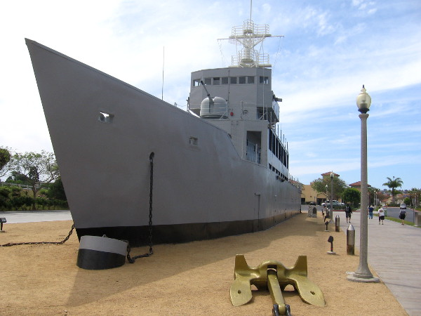 Nicknamed the USS Neversail, this ship is an unusual sight that captures the attention of visitors to San Diego.