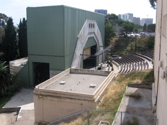 Side view of the Starlight Bowl, which has been sadly abandoned for years now.
