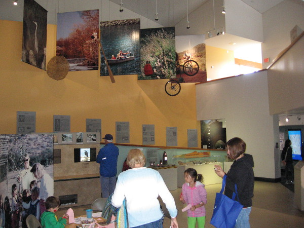 Numerous exhibits and activities could be found inside the Mission Trails Visitor and Interpretive Center.