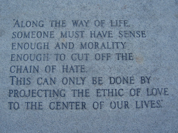 Quotes On The Martin Luther King Jr. Promenade.