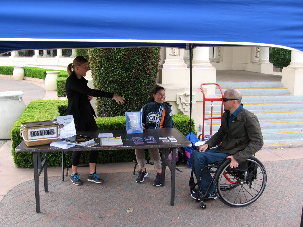 Jeff, a challenged athlete who benefits from Operation Rebound, at a special marathon Spreckels Organ concert.