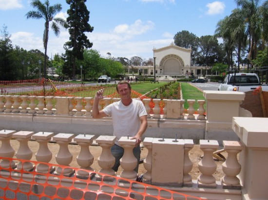 This hard-working guy at the balustrade construction site was nice enough to talk to me and smile for the camera!