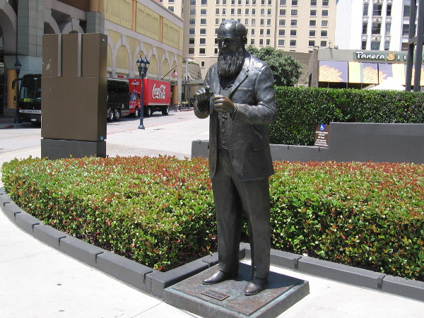 Statue of Alonzo Horton, who helped steer the course of San Diego's history.