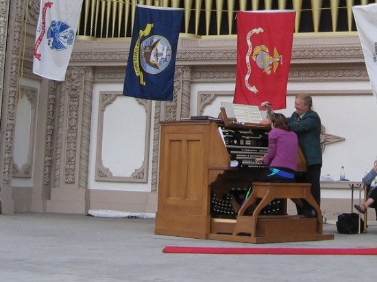 Dr. Carol Williams, San Diego's Civic Organist, is playing for over 12 hours to help raise money, plus set a new world record!