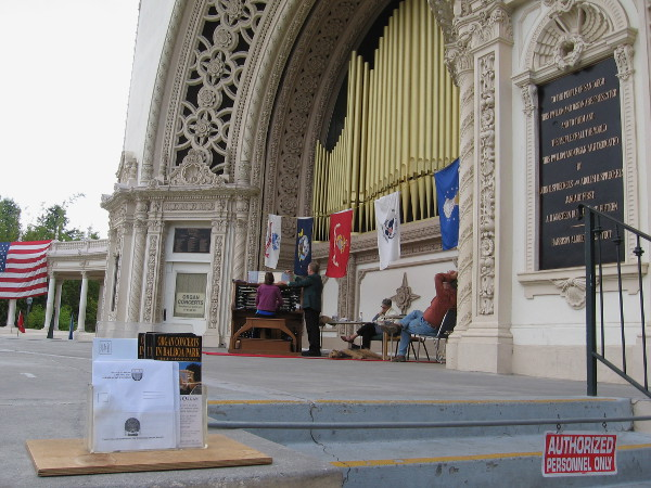 The beautiful Spreckels Organ Pavilion in Balboa Park was the scene of an important Memorial Day weekend event.