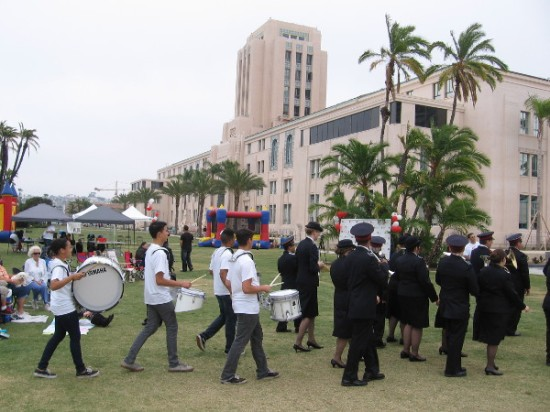 The modest parade ends at the waterfront park, where music, fun and fellowship begin.