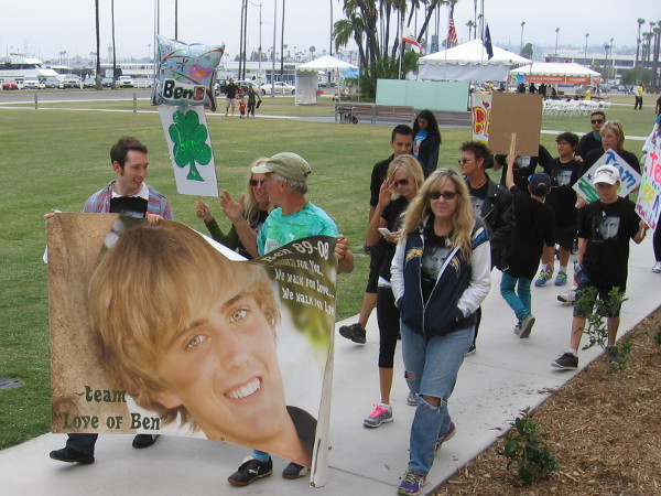 Team Love of Ben at the San Diego Brain Tumor Walk. We walk for you. We walk for love.