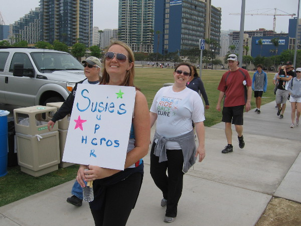 Susie's Superheroes are on the march! Join them!