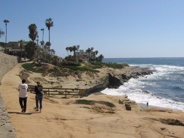Continuing to walk south along more beautiful coastline in La Jolla.