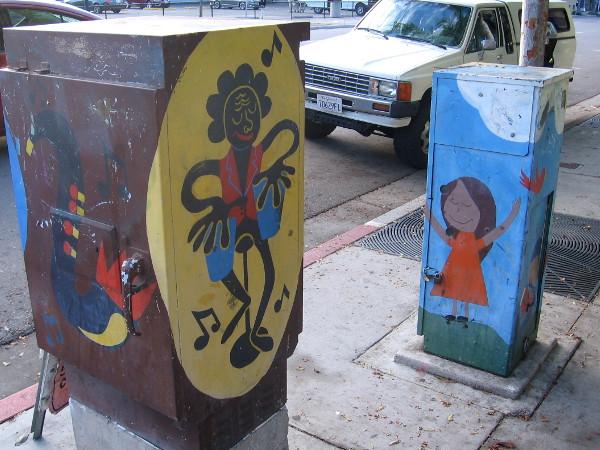 Fun utility box artwork seen during a walk down Seventh Avenue in downtown San Diego.