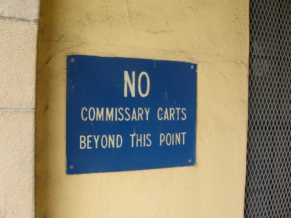 Some old base signs still can be seen at the historic Naval Training Center San Diego.