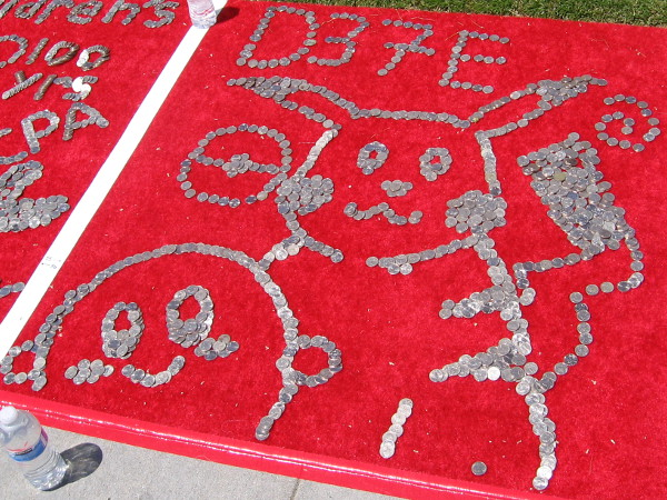 Kids (and adults) created fun artwork with the quarters. Millions of dollars have been raised over the years.