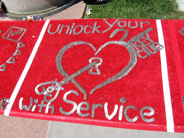 Unlock your heart with service.