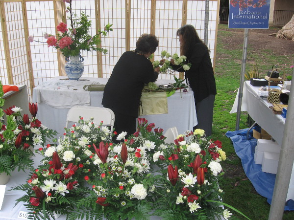 There were lots of flower arrangements and botany-themed art throughout the park!