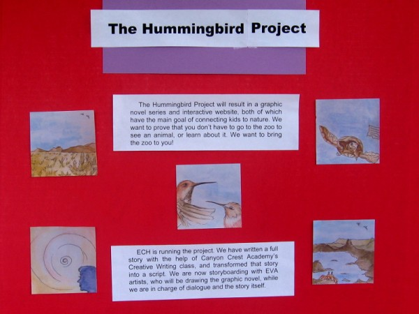 The Hummingbird Project includes a four-part graphic novel created by students at Canyon Crest Academy!
