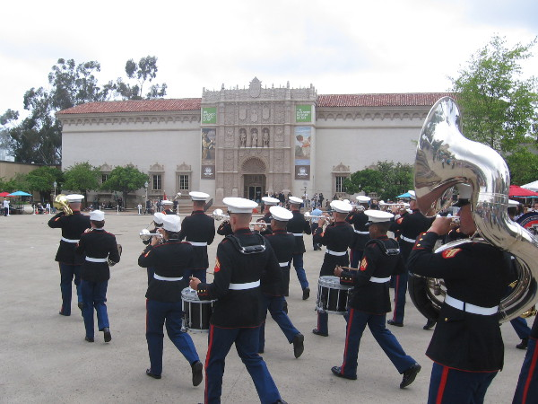 The Marines played an important role in Balboa Park's beginning, and are duplicating their march from 100 years ago!