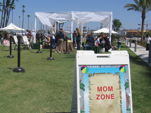 I'm approaching a special Mom Zone. Today is Mother's Day!