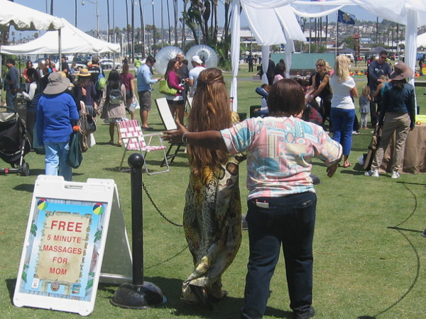 Free 5 minute massages for moms! That tent seemed the most popular!