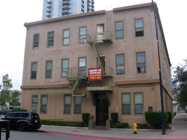 The Clermont/Coast Hotel, built in 1887, is a Black Historic Site. During the days of racial segregation, is was one of the largest colored hotels in downtown San Diego.