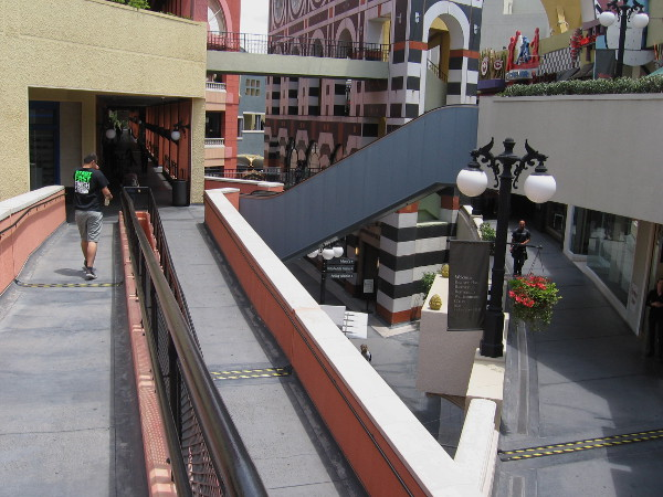 Random ramps and bridges all over the shopping mall.