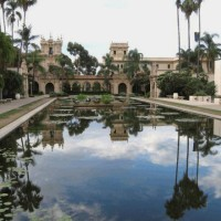 A beautiful photo of reflection in Balboa Park.