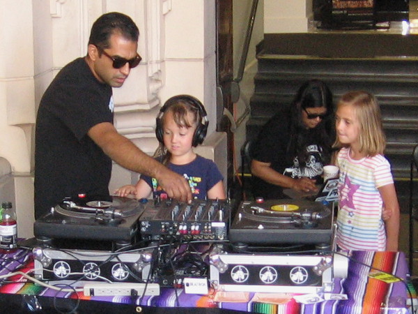 Young kids learn how to become cool DJs at Make Music Day San Diego.