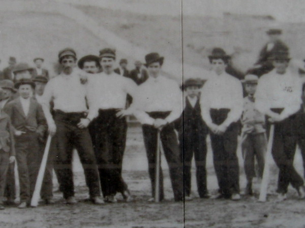 Close look at an old photograph of baseball players in San Diego nearly 150 years ago.