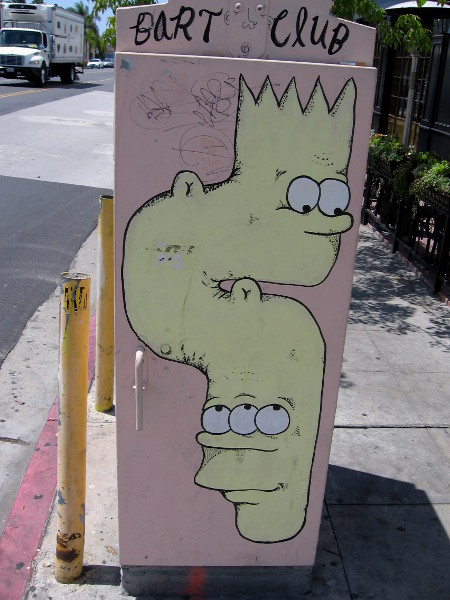 A two-headed Bart Simpson makes for some very cool and unique San Diego street art.