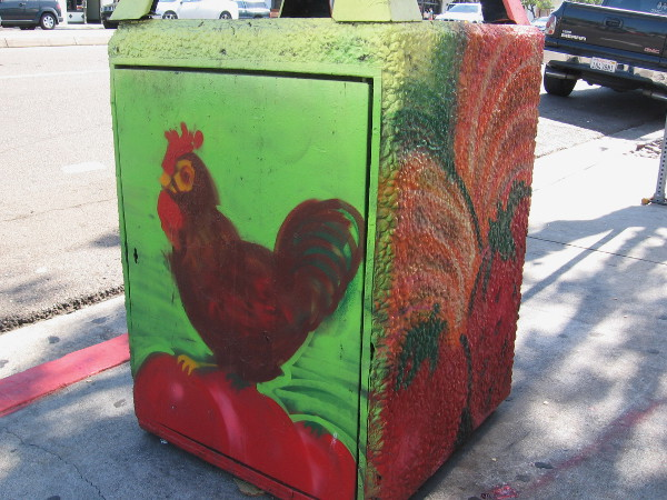 Here's an urban rooster.