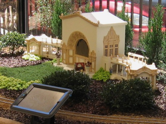 This small replica of the Spreckels Organ Pavilion is part of special exhibit that commemorates Balboa Park's centennial.