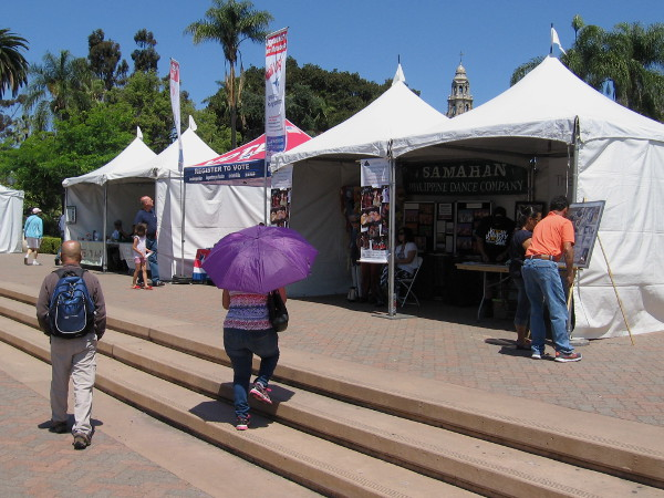 Tents around the perimeter of the pavilion contained interesting cultural information.