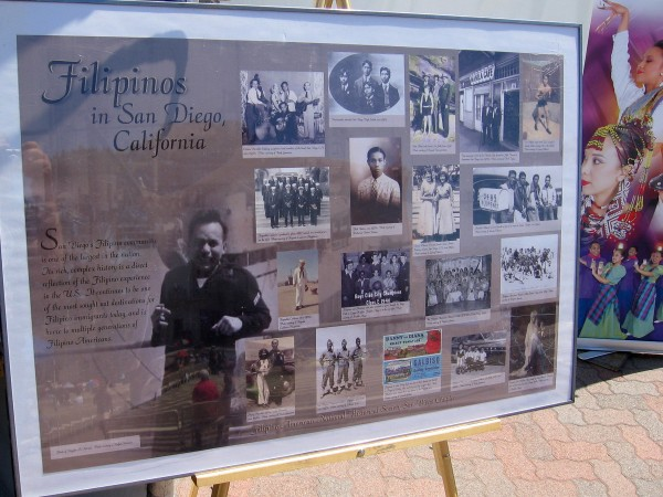 Poster shows many important Filipinos throughout San Diego's rich history.