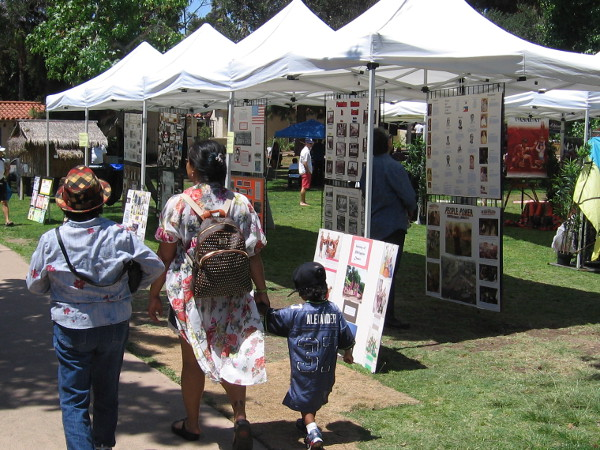 Numerous informative displays were on the lawn in the International Cottages area.