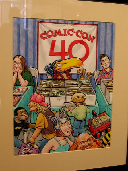 Fun artwork that was used during the 40th anniversary of San Diego Comic-Con.