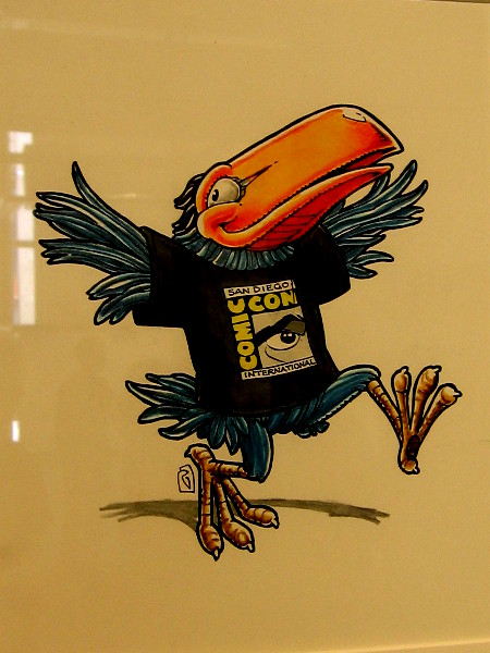 The toucan is flapping around anticipating another Comic-Con!