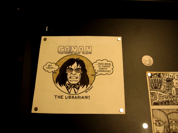 I spotted Conan the Librarian in downtown San Diego's incredible new library!