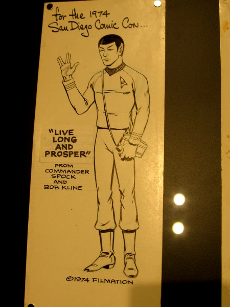 Commander Spock of Vulcan visited Earth back in 1974. Comic-Con then was held in the El Cortez Hotel, a couple blocks from where I'm preparing this blog!