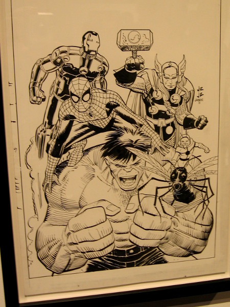 John Romita, Jr. drew Marvel Avengers for the 2012 San Diego Comic-Con souvenir book.