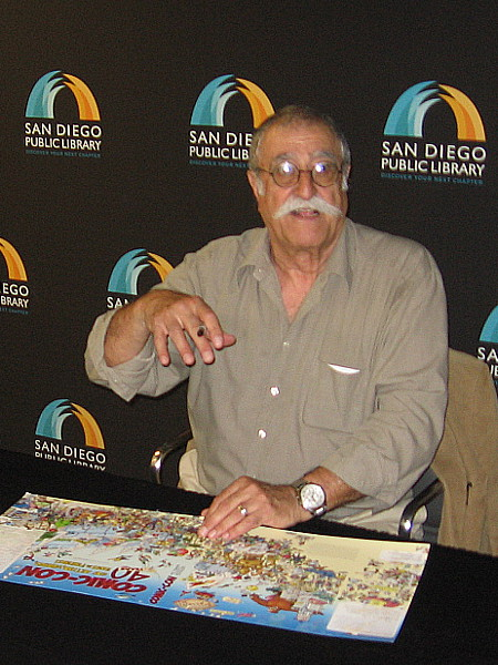 Sergio Aragones signed his covers from the 2008 book Comic-Con 40 Years of Artists, Writers, Fans and Friends. He's a super friendly guy!
