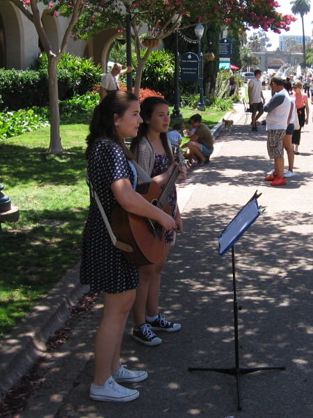 Numerous musicians were up and down El Prado, playing their hearts out.