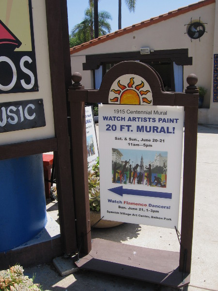 This weekend the public could watch as artists painted a historical mural in Spanish Village.