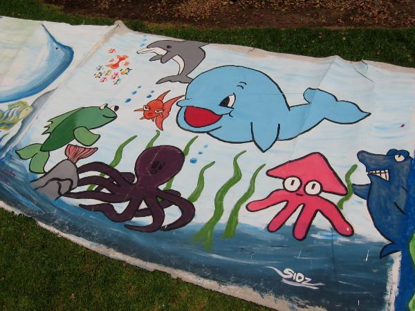 Cartoon ocean creatures prompt smiles in Balboa Park!