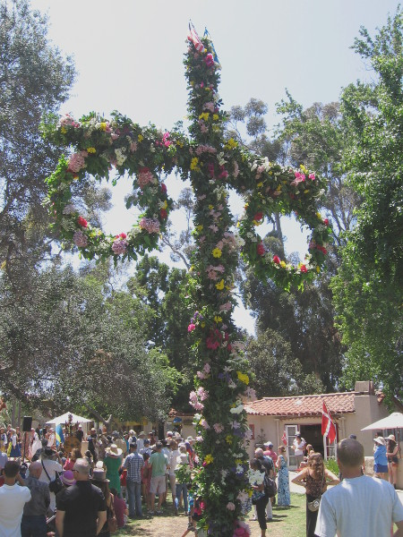 I missed the maypole dance, but got a photo of the flower-bedecked pole!