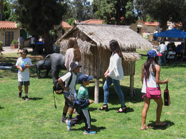 Kids check out some fun exhibits at the Balboa Park Centennial 2015 Philippine American Celebration.