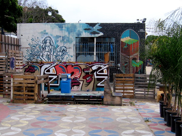 Various street art designs where a branch of the Bart Club used to reside.