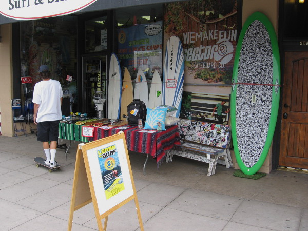 All sorts of cool surf shops line Newport Avenue, where the festival was held.