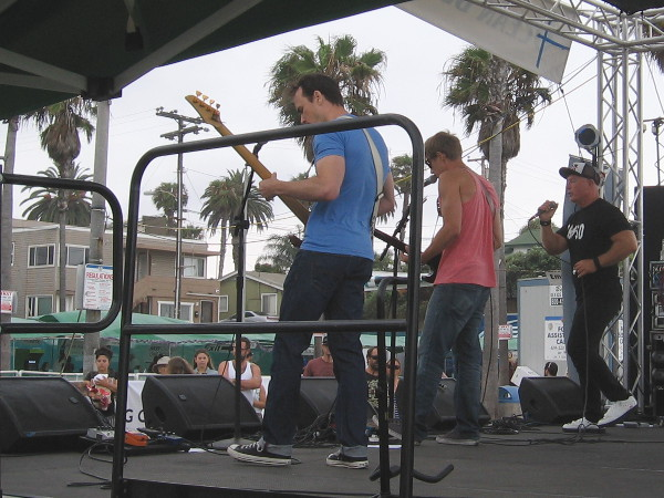 The local band Markland performs on the Main Stage at the 2015 Ocean Beach Street Fair.