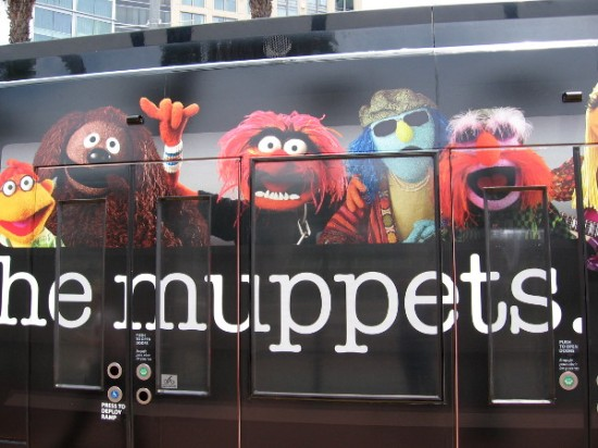The latest Comic-Con trolley wrap promotes The Muppets! Yea!
