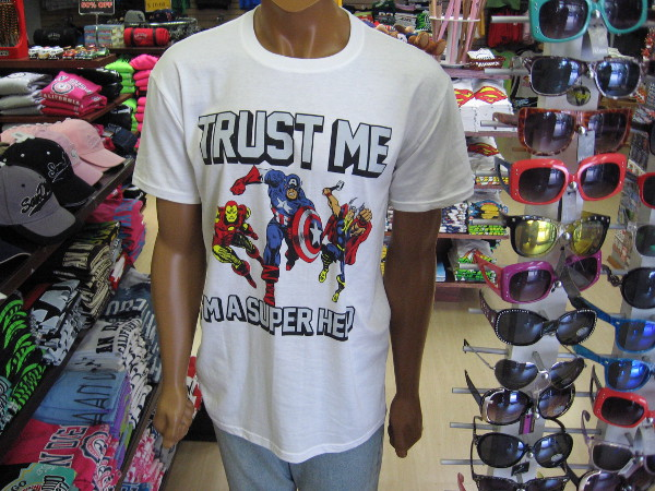 Trust me. I'm a superhero. The San Diego Trading Company on Fifth Avenue will have lots of Comic-Con deals, so swing on by! The lady at the counter is really nice!