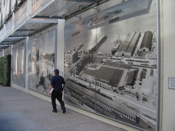 These cool photographs in San Diego's East Village preserve history and reflect memories of a time long ago.